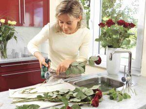 cortadora de flores y jardin