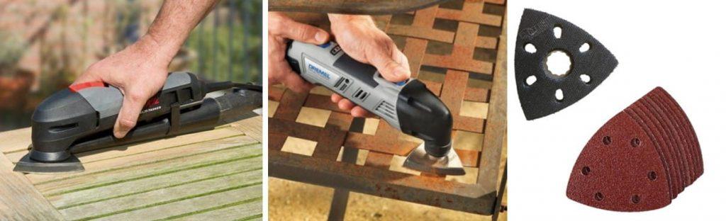 multiherramienta para lijar oxido y madera