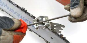 como afilar la cadena de una motosierra