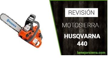 REVISIÓN DE MOTOSIEERA HUSQVARNA 440