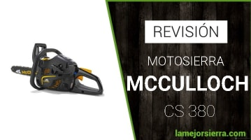 Motosierra Mcculloch CS 380