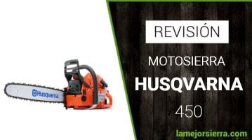 Motosierra Husqvarna 450 Opiniones